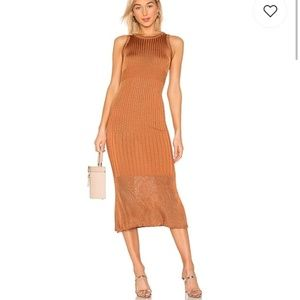 Free People: Copper ribbed midi/maxi dress
